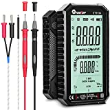 Digital Multimeter,4.7 Inch Large Screen Multimeter Tester TRMS 6000 Counts Voltmeter Auto-Ranging Fast Measures Voltage Current Amp Resistance Diodes Continuity Duty-Cycle Capacitance Temp (Black)