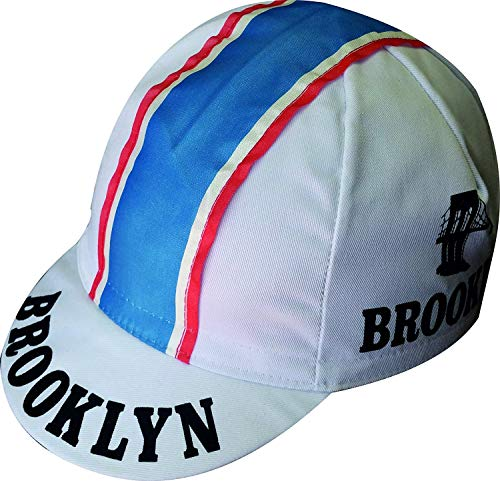 Apis Cappellino Ciclismo Team Vintage Brooklyn Bianco Cycling cap HOSTED BY PRO' Line