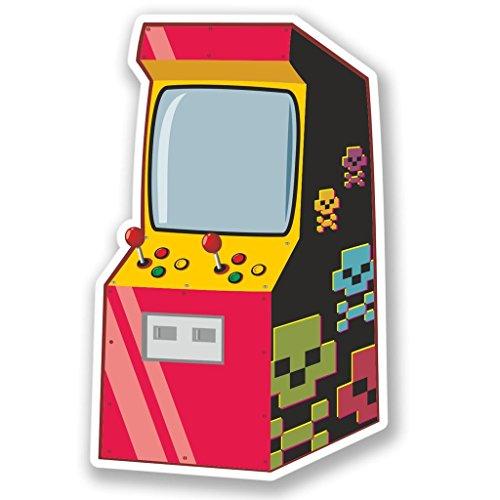 2 x 15cm/150 mm Retro Arcade Etiqueta autoadhesiva de vinilo adhesivo portátil de viaje equipaje signo coche divertido #4250