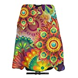 Summer of Love Psychedelic Art Hairdressing Cap Salon Baber Cape Hair Cut Professional/Home Apron Hair Cutting Hairdressing Hairdress Apron 55' X 66'