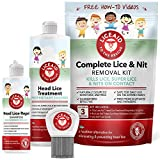 Head Lice Treatment Kit - Everything You Need to Eliminate Lice & Their Eggs - Includes Enzymes, Shampoo, Comb & More 100% Safe for Kids and The Whole Family - Lice Free in 3 Easy Steps