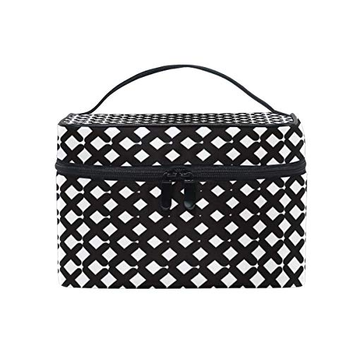 Travel Cosmetic Bag Cross Abstract Line Toiletry Makeup Bag Pouch Tote Case Organizer Storage Tools Jewelry for Women Girls