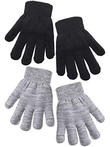 Cooraby 2 Pairs Kid's Thick Magic Gloves Winter Stretchy Warm Full...