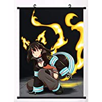 Anime Enn Enn No Shouboutai FireMangaポスタースクロール防水リール家の装飾壁アート 19.7x29.5inch/50x75cm