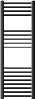 ECD Germany Radiador de baño Sahara - 400 x 1200 mm - antracita - recto con conexión lateral - radiador toallero agua calefaccion