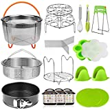 Aiduy 18 pieces Pressure Cooker Accessories Set Compatible with Instant Pot 6,8Qt - 2 Steamer Baskets,...