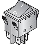 ZF ELECTRONICS WRG32F2FBBNN WR Series 16 A Non Lighted DPST On-Off Panel Mount Power Rocker Switch - 10 item(s)