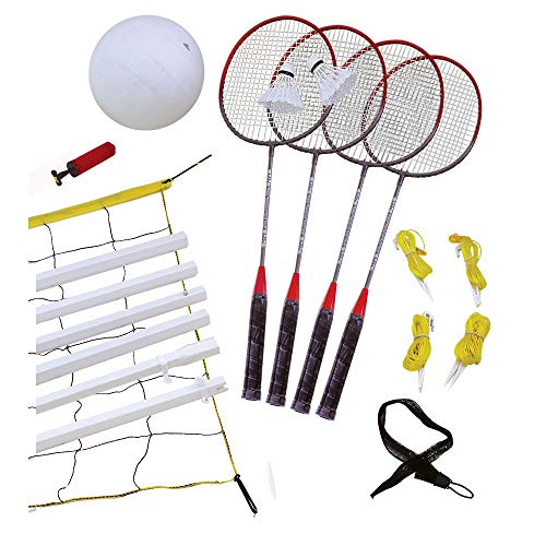 Wham-O Extreme Sports Recreational Badminton and Volleyball Combo Set, Including Volleyball/Badminton Net System and Accessories