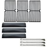 Direct Store Parts Kit DG136 Replacement Brinkmann Pro Series 8300,810-8300-W Gas Grill 3 Burners,Heat Plate,Cooking Grid