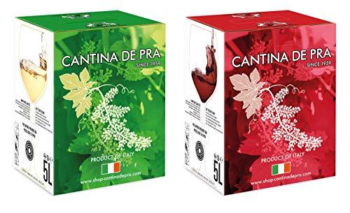 De Pra - Confezione 2 Bag in Box Vino Cabernet del Veneto Igt e Traminer Trevenezie Igt - 2 confezioni da 5l