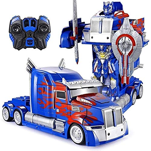 Lowest Prices! Woote Transforming Robot Remote Control 360 Speed Drifting Semi-Truck 1:12 Truck Defo...