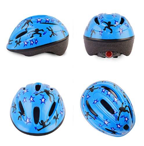 RongWang Outdoor-Sporthelm für Kinder Skating Rollschuh Rollschuh Rollschuh Schutzhelm Cartoon Sport Reiten PVC Helm (Color : B)