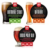 BrewDemon 2 Gal. Signature Variety 3-Pack of Beer Recipe Kits - Makes (3) Wicked-Good 4.6% ABV Batches of Craft Brewed Beer