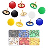 Thumb Tacks 300 Pieces-Decorative Tacks for Corkboard-6 Colors Push Pins with Storage box-3/8-Inch Plastic Round Head-5/16-Inch Steel Point Thumb Tacks
