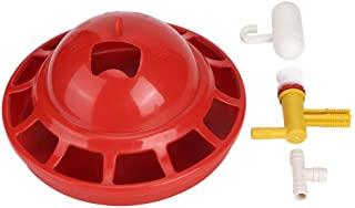 Chicken Water Drinker Horizontal Side Mount Poultry Water Nipples Poultry Waterer Tools for Chicken Quail Duck Red Balacoo Chicken Feeder Nipples