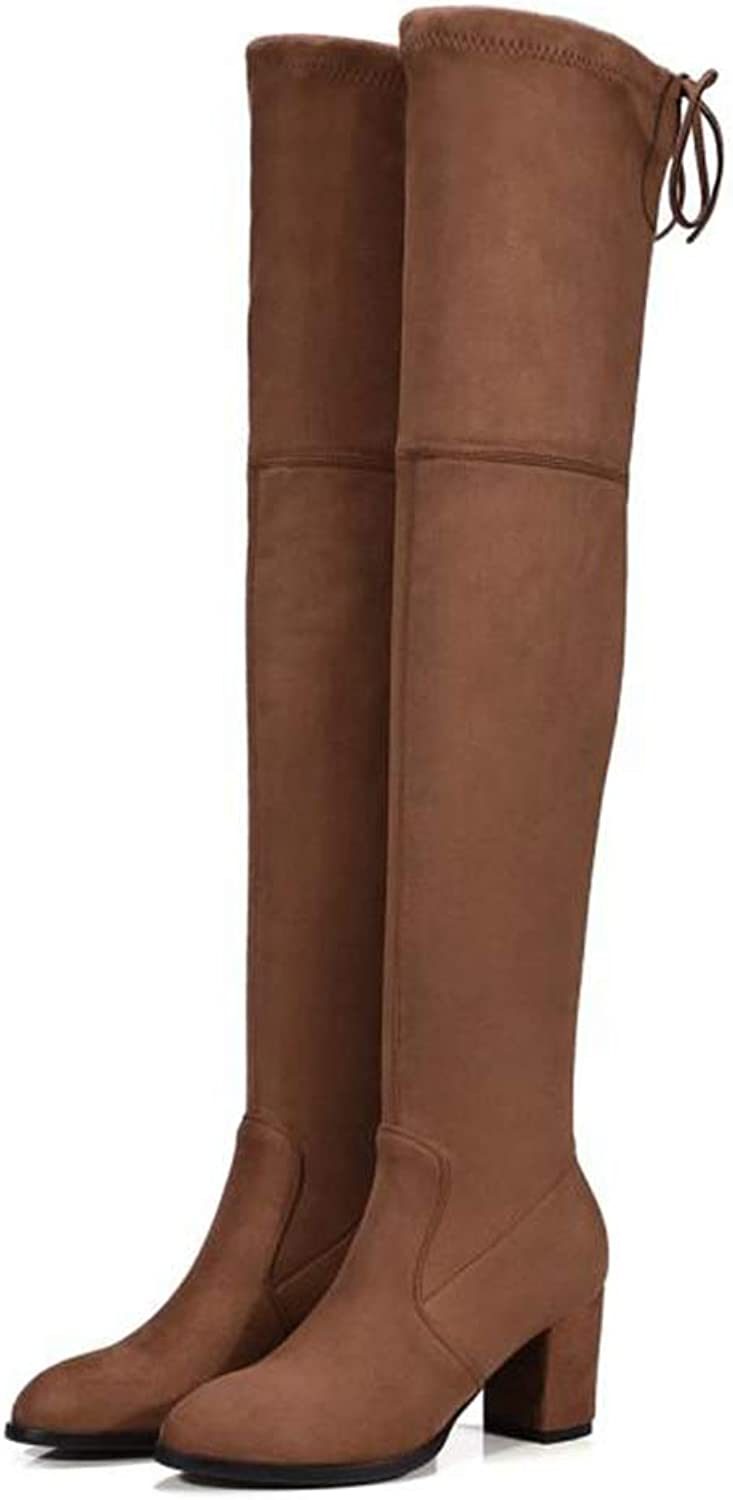 Over The Knee High Faux Suede Slim Boots Sexy Women Snow Boots Women Fashion Winter Thigh High Boots shoes