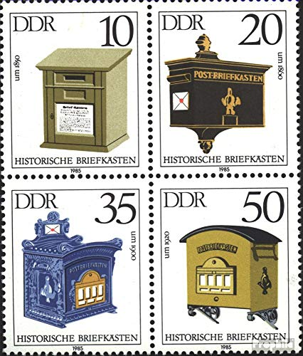 Prophila Collection DDR 2924-2927 Viererblock (kompl.Ausg.) 1985 Briefkästen (Briefmarken für Sammler)