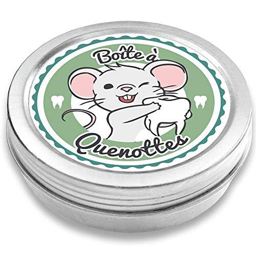 FANS & Friends Boîte à dents de lait pour garçons et filles, avec e-book gratuit, Coffret de rangement pour dents, Cadeau pour écolier, Petite Souris (pétrole)