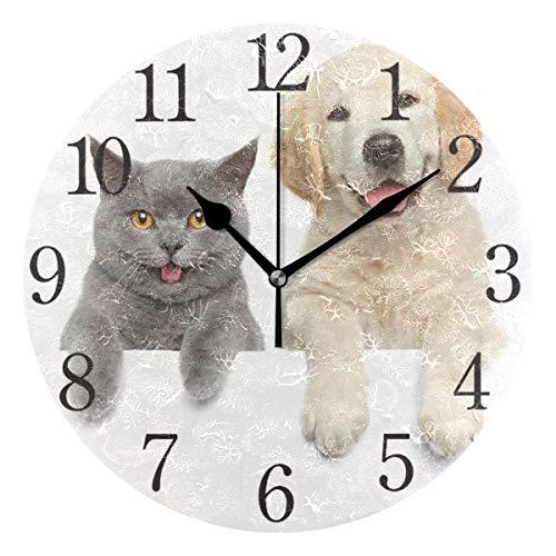 ISAOA Horloge murale moderne de 24,6 cm - Silencieuse - Sans tic-tac - Pour chambre à coucher,...