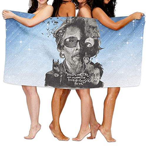 FSTGF Tim Burton Toalla de baño Vibrant Beach/Bath/Pool Toalla 51.2' x 31.5'