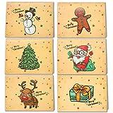 LEHOUR 30 PCS Tarjetas de feliz Navidad Tarjetas de la serie Santa con sobres y pegatinas (Santa Claus)
