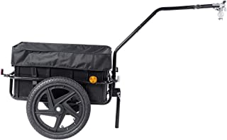 Estink Bicycle Cargo Trailer, 70L Double Wheel Bicycle Trolley Cart with Cover and Safety lamp for Shopping