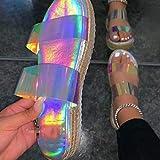 LYYJF Zapatos de Plataforma para Mujer, Primavera Retro con Cabeza Redonda Cuñas Sandalias Casual Verano Alpargatas Talla 35-43,Bright Color,38