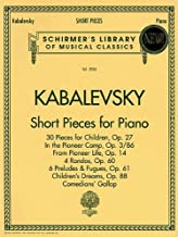 Short Pieces for Piano: Schirmer Library of Classics Volume 2036 Piano Solo (Schirmer's Library of Musical Classics)