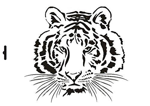 UMR-Design W-006 Tiger Wand/Textilschablone Grösse A4