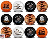 12 Pack Tiger King Golf Balls with 3 Tiger Stripes, 3 Free The Tiger King, 2 Tiger King, 2 Carole Did it, 2 Hey Cool Cats Golf Balls