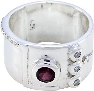62 50 bis Gr 925 Silber mit echtem Granatstein sehr zart Gr Silberring