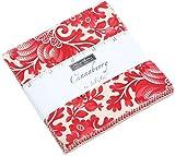 Cinnaberry Charm-Set von Sisters; vorgeschnittene Quilt Quadrate 106