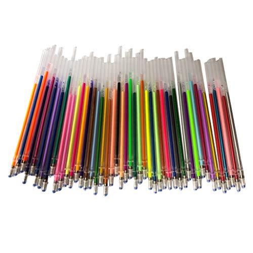 kowaku 48 Piezas de Recarga de Bolígrafos de Gel de 0,8 Mm, Marcadores de Bolígrafos de Gel para Artistas