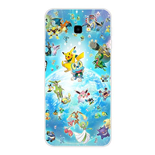 BEEFUN Digimon e uma copia do Pokemon Clear TPU Case Phone Cover for Coque Samsung Galaxy J6 Plus 2018 Picture V20