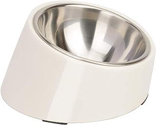 SuperDesign 犬 食器 猫 食器 ペット ボウル ステンレス 給食器 スタンド 傾斜がある 15度 食事をより気軽に メラミン製スタンド付き 滑り止め 取り外し可能 洗いやすい 食器洗濯機で洗える