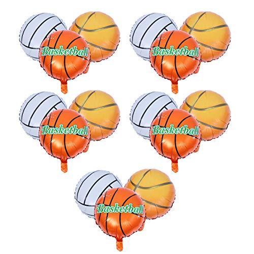 TOYANDONA 15Pcs Basket Palloncino Aerostati della Stagnola da Tennis di Compleanno Decorazione del Partito Palloncini in Alluminio Forniture Accessori per La Decorazione del Partito