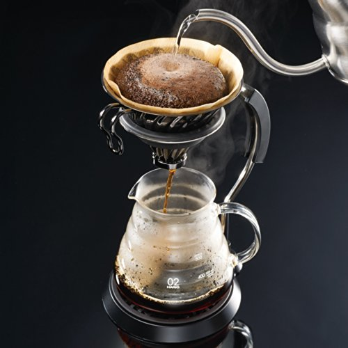 Hario Vintage Metal V60 Coffee Dripper 02 Size Pour Over (Silver)