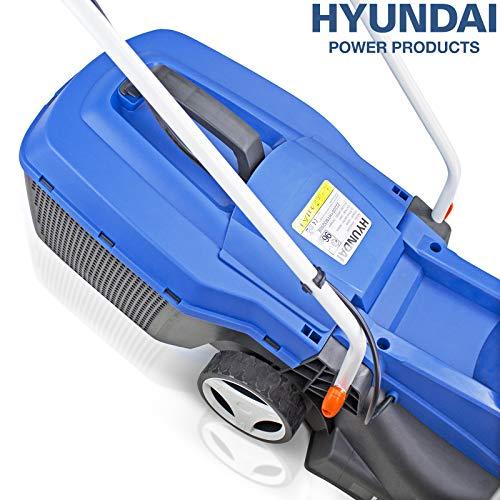 Hyundai HYM3200E 32cm Electric Lawnmower, Blue