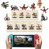 Monster Hunter Rise NFC Amiibo Card, 3PCS- Palamute, Palico, Magnamalo Switch/Lite/Wii U,Mini Cards…