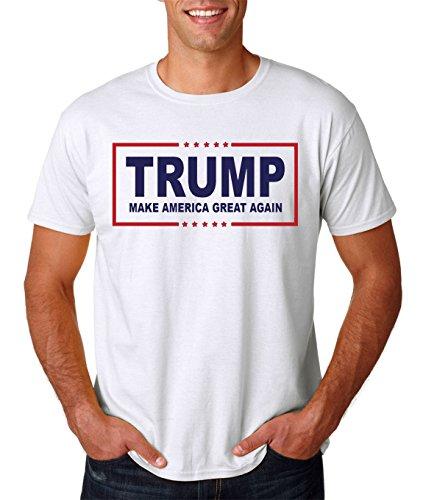 AW Fashions Men's Trump Make America Great Again T-Shirt(White, Small)