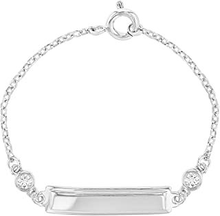 infant id bracelets sterling silver