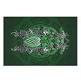 Harberry Rtag1 - Puzzle de 200/300/500/1000 piezas, diseño de vikingo, color verde