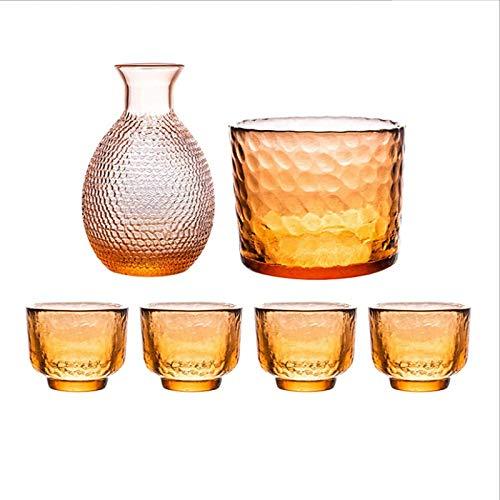 Juego de Sake Juego de Vino de Sake de Estilo japonés japonés Tazas de Sake de cerámica para el hogar para Familiares y Amigos, B