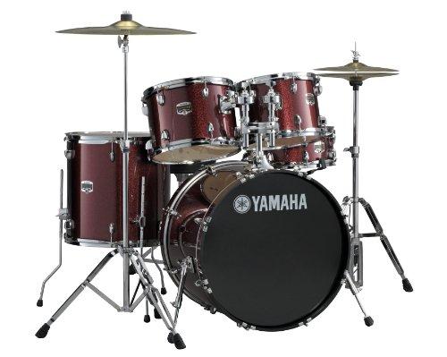 Yamaha Burgund Glitter; Gigmaker 5-pc. Drum Set mit HW; 55,9cm Konfiguration (Cymbals nicht enthalten)