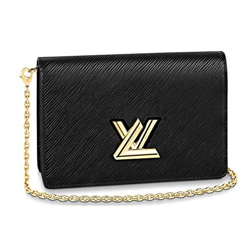 Louis Vuitton Epi Leather Twist Belt Chain Wallet Black Article M68750