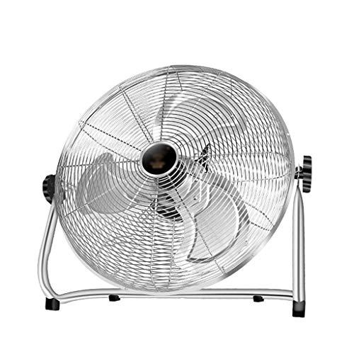 N\C Ventiladores de Pedestal Ventilador de Piso Ventilador eléctrico Industrial de Gran Alcance, 3 configuraciones de Velocidad, 130 & deg; Ángulo de inclinación Ajustable, asa de Transporte y pies