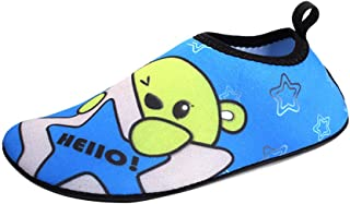 AUCDK Kids Cartoon Pattern Beach Shoes Toddlers Quick Drying Soft Aqua Shoes Barefoot Breathable Water Shoes