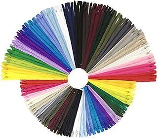 comprar comparacion Wartoon 96pcs 23cm / 9 pulgadas y 30cm / 12 pulgadas cremalleras de nylon multicolor de la bobina para coser y artes 24 co...