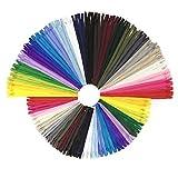 Wartoon Reißverschluss, 24 Farben Nylon Reißverschlüsse, 20cm und 30cm lang, 2.5cm breit für Kleidung Tasche Mäppchen Kissenbezug, 96 Stück