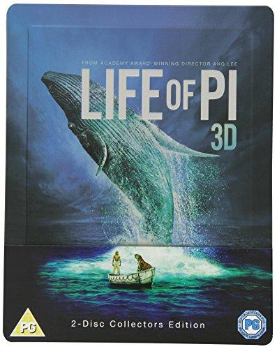 Life of Pi: Schiffbruch mit Tiger (Life of Pi 3D) - Exclusive Limited Edition Steelbook (Blu-ray 3D + Blu-ray + UV Copy) (UK Import mit dt. 3D-Ton) [Blu-ray] , Regiionfree, Uncut